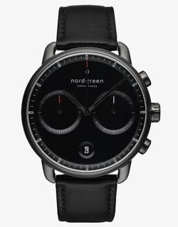 Nordgreen Pioneerブラック ダイヤル - ブラック レザー