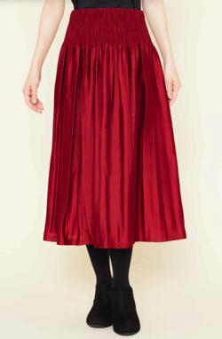 Sybilla シャーリングフレアスカート