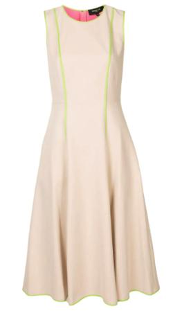 Paule Ka コントラストパイピング ドレス