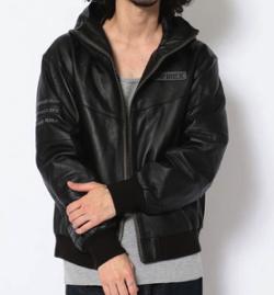 AVIREX レザートラックジャケット グラマラス グレニス