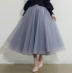 LA BELLE ETUDE Prima ロングチュール×オーガンジースカート