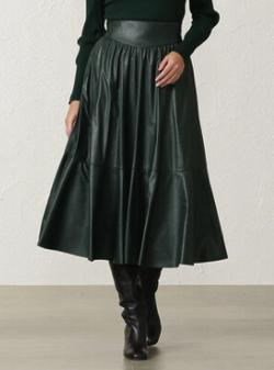 EPOCA THE SHOP シンセティックレザースカート