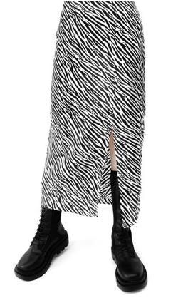 LVEU. Side slit zebra skirt