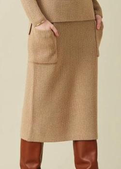 BEIGE, TUMBLE / ニットスカート