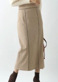 Andemiu パイピングタイトスカート