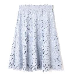 PROPORTION BODY DRESSING リボンケミカルレースフレアースカート