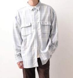 JUNRed it iCON チェックBIGシャツ
