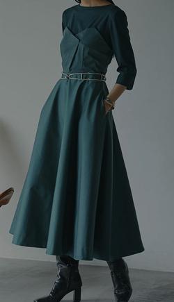 Ameri VINTAGE DEFORMATION LADY DRESS