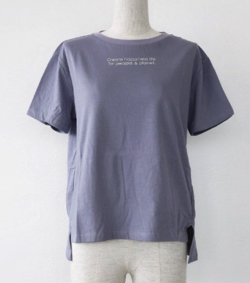 BRAHMIN ロゴ Tシャツ コットン 半袖 サイドスリット FOOD TEXTILE