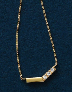 TAKE-UP K10 ダイヤモンド 3石 V字ネックレス