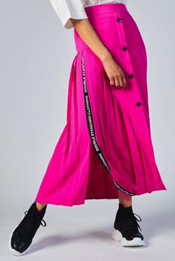 DOUBLE STANDARD CLOTHING DSC ロゴテーププリーツスカート