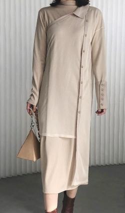 AMERI ELABORATE KNIT DRESS