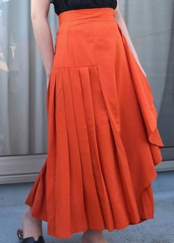 Coo+i プリーツフレア腰まわり細見えロングスカート