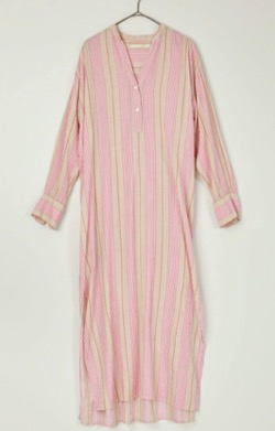 ne Quittez pas(ヌキテパ)Voile Stripe Shirts Dress