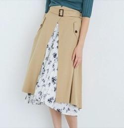 TONAL(トーナル)ニュアンスフラワー2WAYプリーツスカート