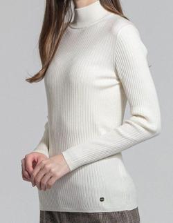 MACKINTOSH LONDON WOMEN ウールニットリブタートルネックセーター