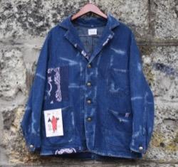 CAL O LINE bandana denim jacket