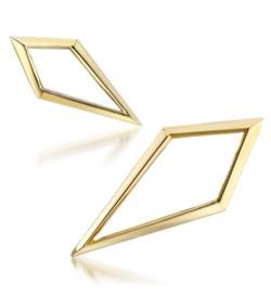 STAR JEWELRY K10 ピアス GOLD PIERCED EARRINGS