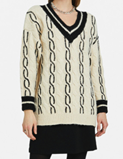 ottod'Ame PROCESSED JUMPER WITH V NECKLINE