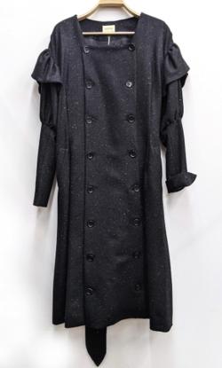 EAUSEENON Puff sleeve coat