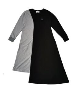 VL BY VEE Half Color Block T-Dress