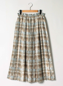 theory luxe Brushed Plaid Print Pennel