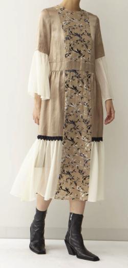 Arobe Flower Embroidary Dress