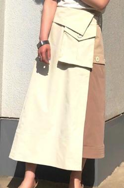 CAST: トレンチディティールスカート