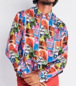 HYSTERIC GLAMOUR HG NIGHT GAMES柄 レギュラーカラーシャツ