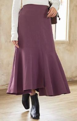 神戸レタス バックウエストゴムパネルマーメイドスカート