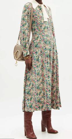 SEE BY CHLOÉ シルククレープデシン ドレス