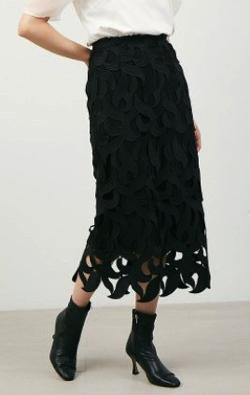 CELFORD リーフレーススカート