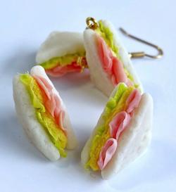 マシュマロシロップ サンドイッチのイヤリング