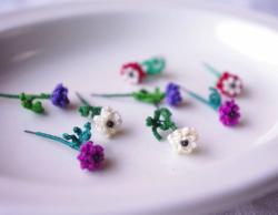 糸の花 itono.hana ナチュラルなアネモネのイヤリング