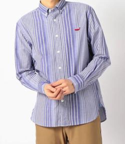 NOLLEY'S クジラ刺繍ボタンダウンシャツ 20SS