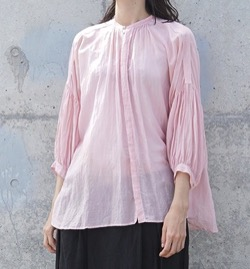 suzuki takayuki puff-sleeve blouse