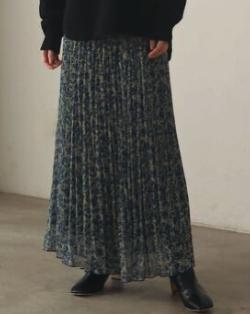 LAGUNAMOON ラウンドリーフプリーツスカート