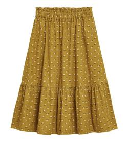 GU GIRLSフラワープリントコーデュロイスカート