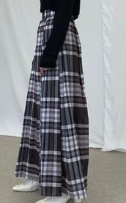 COCODEAL チェックタックボリュームスカート