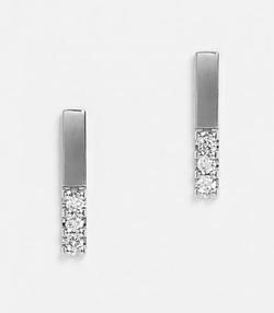 TAKE-UP ダイヤモンド6石 バー ワンポイントピアス