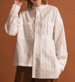 MAISON SPECIAL シャツ ブラウス アシンメトリービッグシャツ