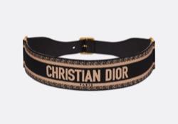 CHRISTIAN DIOR ベルト 65mm エンブロイダリー キャンバス