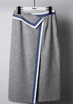 TONAL 配色アシメタイトスカート