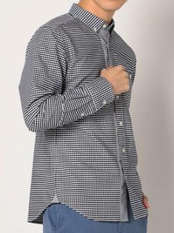 GLOSTER フロントデザインオックスシャツ