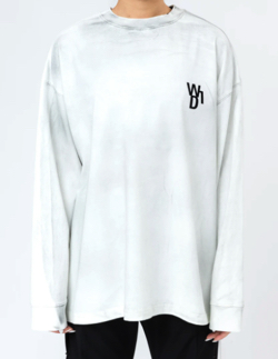WE11DONE WHITE GLOW IN THE DARK TEDDY LONG SLEEVE
