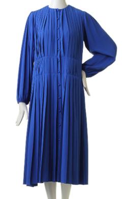 LE CIEL BLEU プリーテッドカラーレスドレス