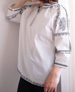 Sawa a la mode エスニック刺繍のコットントップス