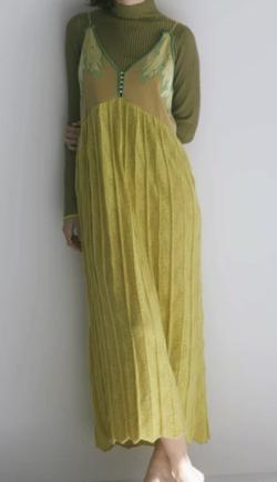 RELDI COMBINATION KNIT DRESS