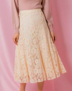 Rewde モールレースフレアスカート