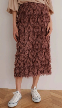 TONAL ジャガードロングタイトスカート